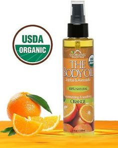 cool NEW! USDA Certified Organic Body & Bath Oil - Orange 5 oz. BOOA051 - For Sale