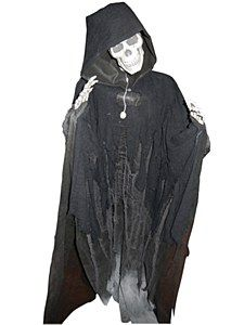 Our Strobe #Reaper Decoration features a plastic skeleton head and bendable arms with bony hands. This Reaper measures in at 170cm in length and when activated has an incredible strobe light effect from his eyes and eerie sounds. With its creepy sounds this is the perfect #Horror Prop to hang in a dark corner. These Halloween Decorations are battery operated..  Quantity Per Pack: - 1 Strobe Reaper Decoration.  Size: - 170cm long.