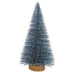 """Bottle Brush Tree with Wood Base Blue 15""""  -Threshold™"""