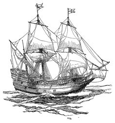The Mayflower Ship Stops | Examples of an English ship and aBarbary galley in the early 17th ...
