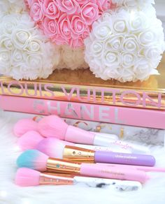 Makeup Tools, Makeup Brushes, Disney Cake Pops, Princess Aesthetic, Pink Cotton Candy, Glam Girl, Study Inspiration, Balloon Decorations, Magical Girl