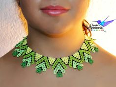 Items similar to Neon-necklace-handicraft Choker necklace Mexico Mexican-jewelry on Etsy Blue Earrings, Beaded Necklace, Handmade Necklaces, Handmade Jewelry, Mexican Jewelry, Beaded Jewelry Patterns, Bead Art, Crochet Earrings, Necklaces
