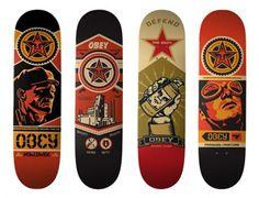 obey skateboard deck art