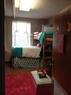 This is nice because it is cute and you could actually do it, its not like paint the walls, get a desk with a granite counter top, and hang a chandelier like most dorm decorating pictures.