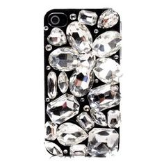 $29.99 LUXURY 3d Handmade Crystal & Rhinestone Iphone 4 case/cover w/HUGE Stones & Gems by Jersey Bling