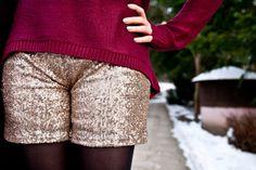 LOTD: zimowy glamour czyli błysk i bordo