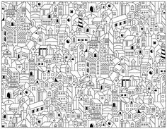 City Buildings Doodle, From the gallery : Doodling / Doodle Art
