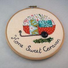 Applique Caravan Embroidery £15.00