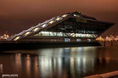 Dockland Hamburg Nachtaufnahme Bilder - Fotografie Andreas Jantzen