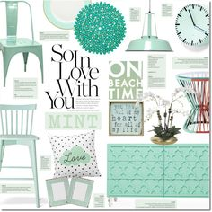 Love Mint by justlovedesign on Polyvore featuring polyvore, interior, interiors, interior design, home, home decor, interior decorating, ModShop, Threshold and Dot & Bo