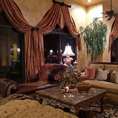Luxurious Living Room. Custom Draperies.