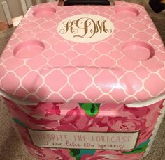 Sorority Coolers **Mandie, you should make & sell these w/ your talents!! lol!&** @alphalove