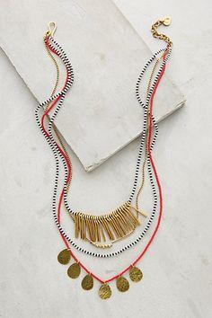 Masambu Layered Necklace #anthropologie