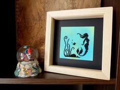 Mini Mermaid PDF Pattern Modern Cross Stitch by ScarlettStitches Mermaid Cross Stitch, Customized Gifts, Custom Gifts, Modern Cross Stitch Patterns, Pdf Patterns, Last Minute Gifts, The Little Mermaid, My Etsy Shop, Colours