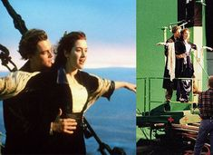 titanic chroma shooting before and after Titanic Movie, Rms Titanic, Chroma Key, Titanic Behind The Scenes, Movie Special Effects, Images Star Wars, Funny Pix, Movie Shots, Back In The 90s