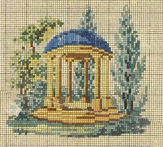 A Berlin WoolWork Temple Pattern