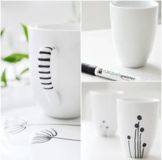 Cute designs for drawing on mugs with sharpie