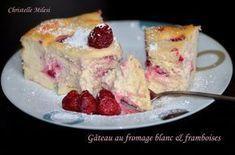 Gâteau au fromage blanc et framboises : la recette facile