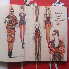 Fashionary, street style, summer, fashion illustration, kira krylova , графика…