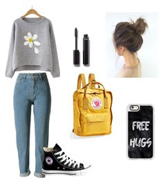 """school day"" by kkmahony ❤ liked on Polyvore featuring Converse, Fjällräven, Chanel and Casetify"