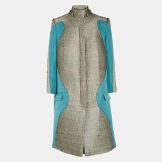 Justyna Chrabelska Antonio Berardi Paneled Bouclé Coat