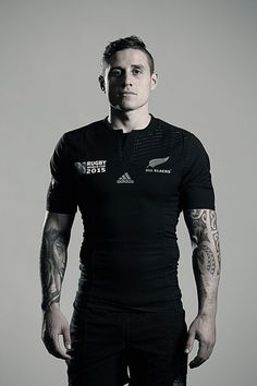 TJ Perenara poses during a New Zealand All Blacks Rugby World Cup Squad Portrait Session on August 31, 2015 in Wellington, New Zealand.