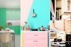 Increíbles ideas para pintar las paredes de la cocina  cocinasModernas 83c1a329e784