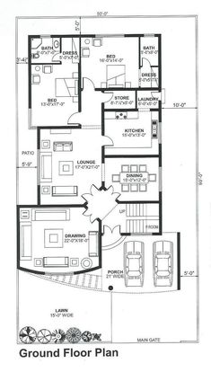 Unique House Plans, House Plans Mansion, Free House Plans, Indian House Plans, Beautiful House Plans, House Layout Plans, Duplex House Plans, Family House Plans, Best House Plans