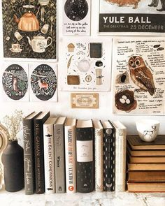 Small office corner full of books and artistic posters. Small office corner full of books and artistic posters. Aesthetic Room Decor, Book Aesthetic, Artist Aesthetic, Aesthetic Outfit, Witch Aesthetic, Aesthetic Girl, Aesthetic Fashion, My New Room, My Room