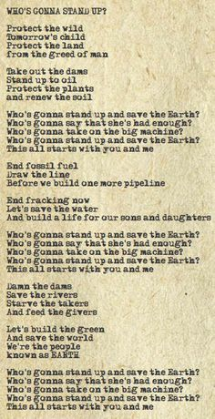 Who's Gonna Stand Up Lyrics/Neil Young