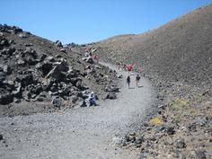 walking up the Volcano!