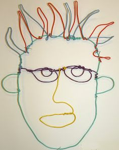 Draw The Line At: wire portraits