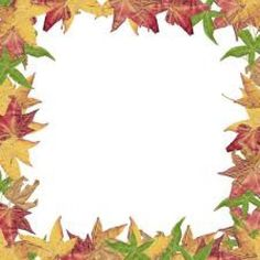 Fall Leaves Clipart Black And White Border