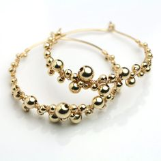 Glitzy But Not Too Over The Top We Love These Bubbly Gold Earrings