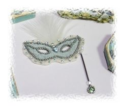 Ladys  historic filligree mardi gras mask OOAK by Scarletts45, €25.00
