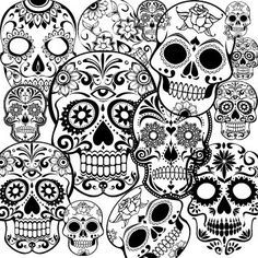 Day Of The Dead Dia De Los Muertos Sugar Skull Coloring Pages Colouring