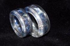 Sodalite and Clear Quartz Wedding Rings