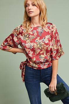 Floral top blouse. This looks so comfortable and will spice up the wardrobe  Affiliate