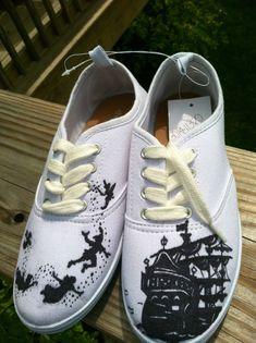 Peter Pan custom Van #Shopping #OnlineShopping #vans