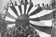 ww2, flags, marines, japanes flag