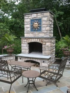 Stone Age Manufacturing Contractor Series Fireplace with Arched Lintel Outdoor Wood Burning Fireplace, Outside Fireplace, Linear Fireplace, Outdoor Fireplace Designs, Fireplace Screens, Fireplace Inserts, Build A Fireplace, Fireplace Tool Set, Fireplace Ideas
