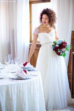 Red, White, and Blue Bridal Bouquet / Aria Style / Alante Photography / via StyleUnveiled.com