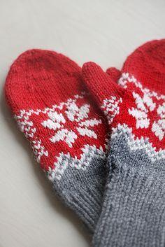 Ravelry: Milka's Mittens pattern by Marzena Krzewińska free pattern in 10 ply… Knitted Mittens Pattern, Fair Isle Knitting Patterns, Crochet Mittens, Knit Or Crochet, Crochet Hats, Knitted Gloves, Fingerless Gloves, Hat Patterns, Crochet Granny