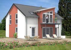 #Satteldachhaus im modernen #Design. Wir haben die #Häuser für jeden Geschmack! Mehr Informationen über Herwig #Haus und unsere #Massivhäuser gibt es unter: www.herwig-haus.de