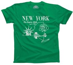 Men's Retro New York T-Shirt Vintage State Pride