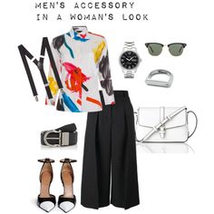 Men's accessory in a woman's look by sintony on Polyvore featuring мода, Paul Smith, Erdem, Givenchy, L.K.Bennett, BOSS Hugo Boss, Express, Salvatore Ferragamo, MIANSAI and Ray-Ban