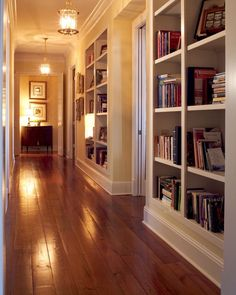 (Built-ins in the hall!) Southern Comfort –This Brentwood, Tennessee Home is Warm, Inviting and Filled With Old World Charm House Design, House Styles, Interior Design, Home Libraries, Home, Interior, Southern Comfort, Cozy House, Home Decor