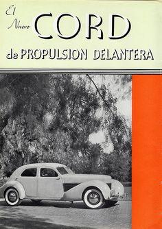 1936 Cord 810 Sedan Ad (Argentina), Page 1 Cars Usa, Us Cars, Auburn, Vintage Advertisements, Vintage Ads, Cord Car, Automobile, Vintage Classics, Limousine