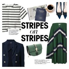"""""""Stripes on stripes"""" by punnky ❤ liked on Polyvore featuring Valentino, Theory, Miu Miu and Haute Hippie"""