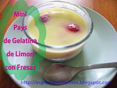 Mini Pays de Gelatina de Limon con Yogur con Fresas